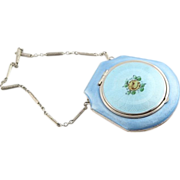 REDUCED Blue Enamel Compact