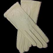 Vintage Butter Soft Kid Leather Gloves Made In France