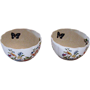 Two Vintage Aynsley Var-I-Ete` Bowls Marked Cottage Garden