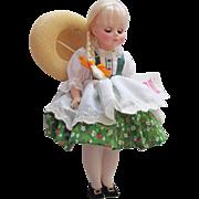 Vintage Madam Alexander Heidi Doll, Like New Heidi Doll