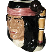 Vintage Royal Doulton The Wild West Collection Toby Mug Made in England Geronimo Toby Mug