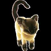 Vintage Kamar Straw Stuffed Siamese Cat