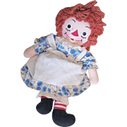 Lovely Vintage Original Gruelle's Own Raggedy All Label Cloth Doll