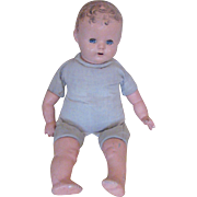 """Vintage Cloth 16"""" Doll With Composition Head, Arms & Legs"""