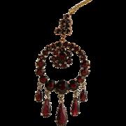 REDUCED Vintage 10K Gold Garnet Necklace