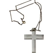 REDUCED 12k Gold Filled Chain With Lucite Cross