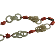 REDUCED Chinese Hetian Mutton Fat Hand Carved Nephrite Jade Necklace