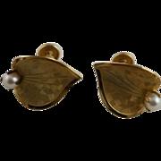REDUCED Very Fine 12K GF Cultured Pearl Earrings