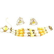 SALE   Hobe Yellow Bracelet and Earrings