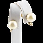 Elegant Marvella Faux Large Pearl Earrings