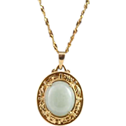 14K Gold Greek Themed Pendent Nexcklace
