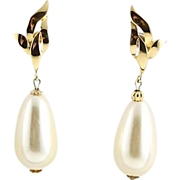 Gold Richelieu Faux Pearl Earrings