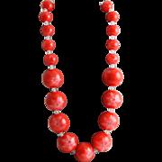 Fun Orange Lucite Necklace