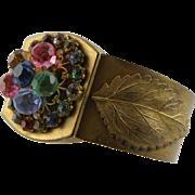 Antique Brass Bangle Bracelet
