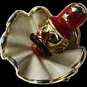 Darling Little Vintage Marvella Enamel Clown Pin