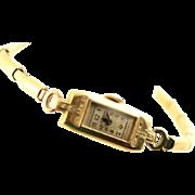 Vintage 14K Gold Ladies Elgin Watch