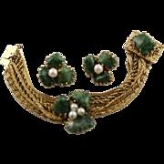 Bold, Beautiful Kramer 1950's Bracelet & Earrings Set