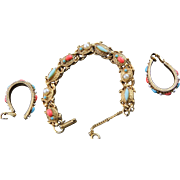 Rare & Famous Florenza Turtle Bracelet & Matching Earrings