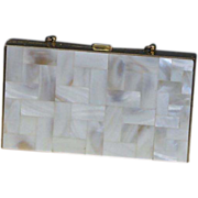 REDUCED Mother of Pearl Minaudiere/Necessair