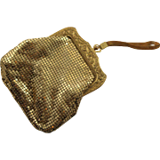 Vintage Gold Mesh Whiting & Davis Dance Purse