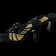 REDUCED Vintage Sergio Rossi Navy Suede Heels