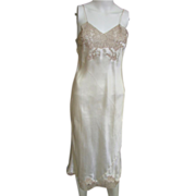 REDUCED Custom Made 1940's Chantilly Lace and Silk Slip from Neusteter's