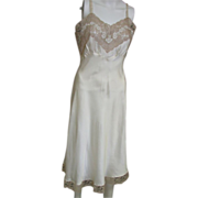 REDUCED Lovely 1950's Heavenly Silk Lingerie by Fischer Full Slip