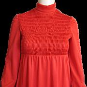 Darling 1960's Vintage Red Dress