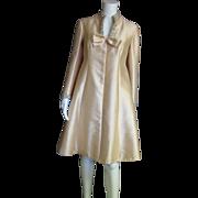 REDUCED Seaton Enterprises Ltd. Handmade Light Gold 1960's Party Dress