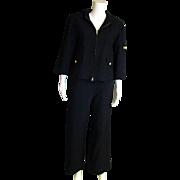 SALE  Ralph Loren Black Wool Two Piece Pant Set