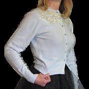 vintage 1950's Sequin Glitz Cardigan Sweater