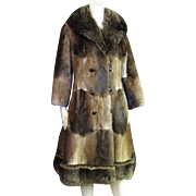 SALE REDUCED       Striking Vintage Fur Full Length Coat