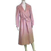 Spring Time Dusty Pink Long Trench Coat