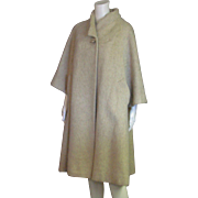 Amazing Vintage Lilli Ann 1950's  Wool & Rabbit Hair Full Length Coat