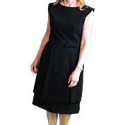 Vintage Little Black Dress With Overlay Skirt