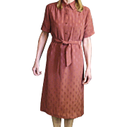 Vintage Lanvin Shirt Dress Marked Lanvin, Paris-New York