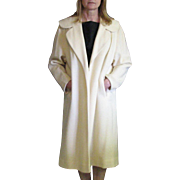 SALE Vintage 1960's Betty Rose Nearly White Long Open Style Coat