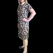 Vintage 1950's Print Dress