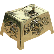 An Exquisite Art Nouveau 800 Fine Silver Jewelry Casket