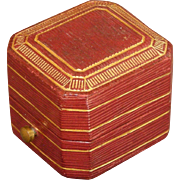 SOLD A Tiffany & Co. Victorian Leather, Satin, & Velvet Ring Box Circa 1900
