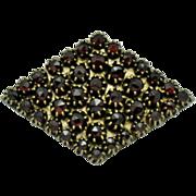 SALE Bohemain Rose Cut Garnet  Brooch and Pendant Art Deco