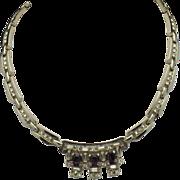 SALE LOUIS STERN Lustern  Amethyst Rhinestone Choker Necklace
