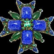 ORIGINAL BY ROBERT Figural Maltese Brooch Pin and Pendant