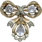 TRIFARI Philippe Vintage 1949  Bow Ribbon Brooch Patent 155,186
