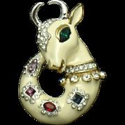 Vintage  KJL Kenneth Lane Rare Fantasy Mythological Figural Brooch Pin