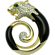 CINER  Figural Panther Panthere Brooch Pin GORGEOUS