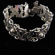 Vintage Mexican 980 Silver Bracelet