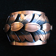 Large Rebajes Copper Cuff Bracelet