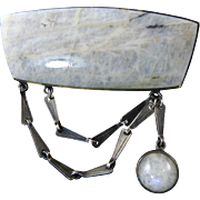 Modernist Labradorite Brooch