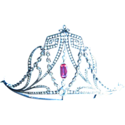 SALE PENDING Regal Edwardian Silver and Paste Tiara